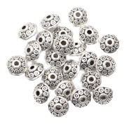 ILOVEDIY 100pcs Antique Silver Wheel Spacer Beads for Jewellery Making 6mm