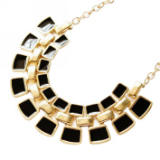 Fashionwu Ladies' 7Colors Gold Plated Bib Bubble Collar Square Bead Statement Necklace