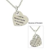 TOC 'I Love U B/c U Are An Incredible Mom' Heart Pendant Gift For Mum