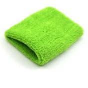Unisex Sport Tennis Gym Wristband Plush Wrist Wipe Sweat Wrist Band Green