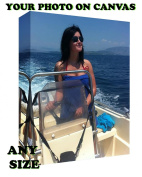 Your My Personal Photo Picture on a Box Canvas - 120cm x 80cm A0