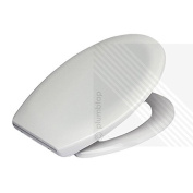 Premium Soft Close Toilet Seat in White | Top Fixing Metal Hinges | BRAND NEW