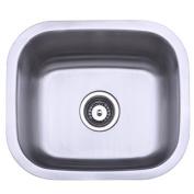 Kingston Brass GKUS16168 Gourmetier GKUS16168 Undermount Single Bowl Bar Sink, Brushed Nickel