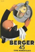 FRENCH VINTAGE METAL SIGN 20x15cm RETRO AD BERGER 45 MARSEILLE PASTIS