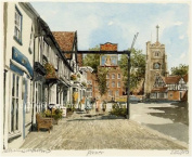 Portrait of Britain, Pinner - High Street, London & Middlesex, Framed