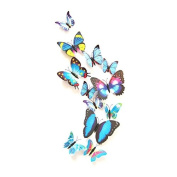 12PCS 3D Butterfly Stickers Card Making Stickers Wall Stickers 3D Crafts Butterflies