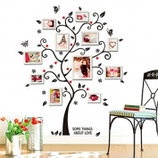 Wall Art Sticker- Black Family Photo Frame Tree Flower Wall Decal