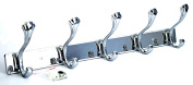 Heavy Duty Luxurious Stainless Steel Coat Robe Hat Clothes Towel Hooks Wall Hanger Rack Wesda-069