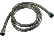 BRAND NEW - 1.5M STAINLESS STEEL SHOWER HOSE - DOUBLE LOCK ATTACHMENTS - SILICONE WASHERS - FLEXIBLE & STRONG