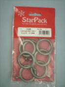 Curtain Rings Grey Plastic 28mm 72489