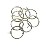 Emma Barclay 35 - 45mm Metal Curtain Rings, Brushed Silver, 8 Pack