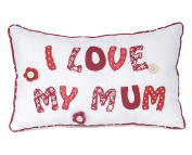 I Love My Mum Shabby Chic Cushion Lovely Mothers Day Present