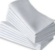 VALUE CASUAL WHITE COTTON TABLE NAPKINS SIZE 41X41CM, PACK OF 8