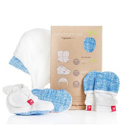 GOUMI KIDS Goumi Newborn Hat, Mitt and Bootie Set