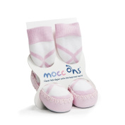 Mocc Ons Cute Moccasin Style Slipper Socks, Ballerina - 18-24 Months
