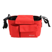 . Baby Stroller Organiser Pushchair Storage Bag 30cm x 15cm x 6.7.6cm RED