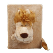 Orien Light Brown Lion Cartoon Animals Plush Toys Photograph Photo Album Cover Scrapbook Case Holder Kids