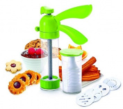 Yoko Design 1264 Biscuit Press - ABS (Acrylonitrile Butadiene Styrene) / Polyester / Polypropylene - 25 x 16 x 6 cm - Green