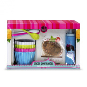 Lily Cook Set Gourmet KDO8538 Ice Blue/Pink/Green/White, 400 ml