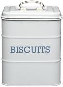 KitchenCraft Living Nostalgia Biscuit Tin, Grey, 14.5 x 19 cm