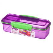 Sistema 410ml Two Compartment Snack Attack Box, Purple
