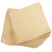 200 X Brown Kraft Food Bags-(25cm x 25cm )- Ideal for Sandwiches/Fruit/Sweets/General Foods & Much more!