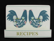 Wooden Recipe Stand / Book Holder with Blue Rooster Design by Gisela Graham