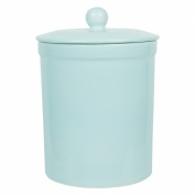 Turquoise Ceramic Compost Caddy - Melbury Kitchen Ceramic Compost Bin for Food Waste Recycling