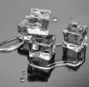 20pcs Artificial Acrylic Ice Cubes Crystal Clear Square Wedding Display 2cm