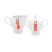 Rayware Milan Sugar and Creamer Set Gift Boxed, White