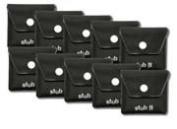 Ten Black Pocket Ashtrays