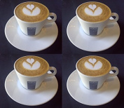 4 X Lavazza 160ml Cappuccino Cups and Saucers