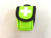 HI VIZ POUCH WITH FOIL WRAPPED FACE SHIELD AND GLOVES