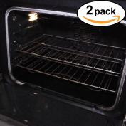 Stately Kitchen's Extra Durable Large Non Stick Teflon Oven Liners, Pan Liners and Cookie Sheets 43cm x 60cm 2 Pack