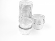 Disposable Aluminium 120ml Ramekins/foil Cups w/ Clear Snap on Lid #1400p