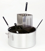 Crestware 18.9l, Four Compartment, Three Piece Aluminium Pasta Cooker with Pot, Perforated Insert and Pan Cover