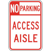 ComplianceSigns Aluminium Hawaii Parking Control Sign, Reflective 46cm x 30cm . with Parking Not Allowed info in English, White