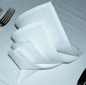 Atlas 72-Pack Napkins - White, Professional Grade, 100% Cotton With Momie Weave, Exceptional Absorption. Dinner Napkins Preferred by Professional Chefs 50cm x 50cm Eco-Friendly