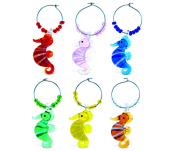 Cheers Glass Wine Charms - Seahorse