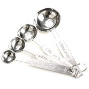 Vktech 4pcs Stainless Measuring Spoons Tea Coffee Cooking Baking Measure Scoop Cup