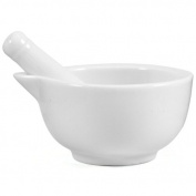 OmniWare White Porcelain Medium 8.9cm Mortar and Pestle