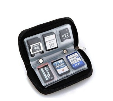 Memory Card Carrying Case - Suitable for SDHC and SD MicroSD CF MS XD Cards - 8 Pages and 22 Slots, idea for Canon EOS 1200D,100D 750D 760D 700D,650D,70D 60D,7D,6D,5D,SX50, SX60, Nikon D810 D800 D610 D600 D7100,D5300,D5200,D5500 D3200,D3300,FUJI FinePi ..