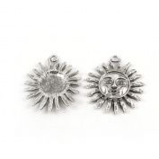 20 Pieces Wholesale Supplies Ancient Silver Fashion Jewellery Making Charms Findings W-A1429 Sun Pendant Retro DIY Craft Alloys Lots Repair Jewellery Findings Accessoires