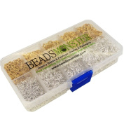 BeadsMonster Jewellery Findings Jump Rings, 4,5,6,7,8mm, Silver and Gold Colour, with Box