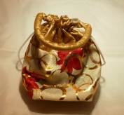 """Organza Jewellery Pouch Wedding Party Favour Gift Bag Handmade Premium Quality (20cm x 13cm x 2"""") - 12 Bags"""