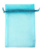 100pcs Turquoise Organza Drawstring Pouches Jewellery Party Wedding Favour Gift Bags 10cm x 13cm