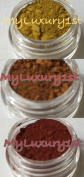 Lot of 3 Matte 30ml Soap Making Powders Yellow Orange & Red Iron Oxides Cosmetic Pigments 28g Each