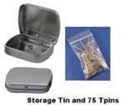 Hinged Storage Tin with 75 T-Pins