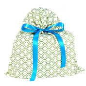 Green Geometric Reusable Fabric Gift Bag Medium 43cm by 48cm