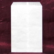 200 pcs White Kraft Paper Merchandise Gift Bags Shopping Sales Tote Bags 15cm x 23cm